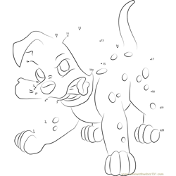 Angry Dalmatian Puppy Dot to Dot Worksheet