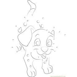 Dalmatians by WolfNikki Dot to Dot Worksheet