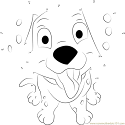 Funny Dalmatian Dot to Dot Worksheet