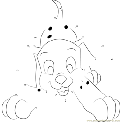 Little Dalmatian Dot to Dot Worksheet