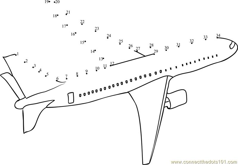 Airplane Dot to Dot - Woo! Jr. Kids Activities