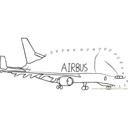 Air Bus Airplanes Dot to Dot Worksheet