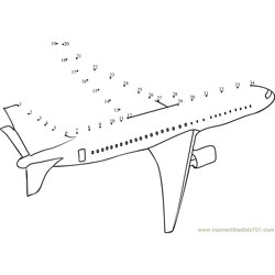 Jet Aircraft Airplane Dot to Dot Worksheet