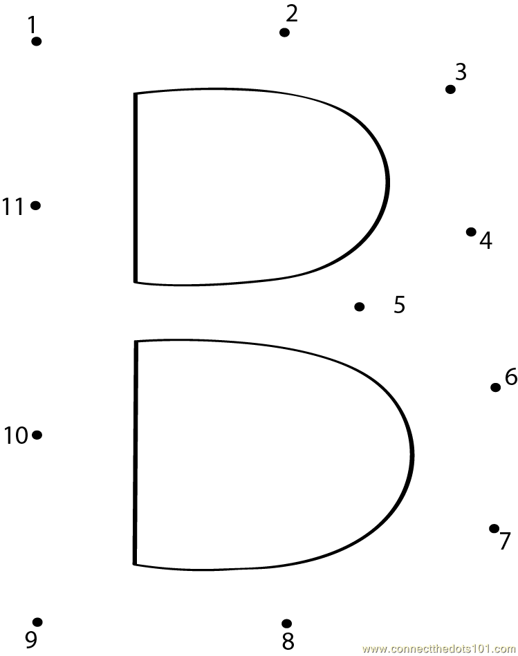 Alphabet B Dot To Dot Printable Worksheet - Connect The Dots