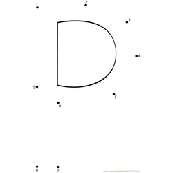 Alphabet P Dot to Dot Worksheet