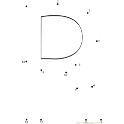 Alphabet R Dot to Dot Worksheet