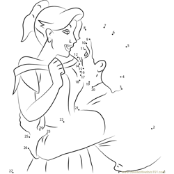 Gaston and Anastasia in Love Dot to Dot Worksheet