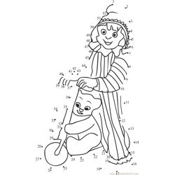 Cute Andy Pandy Dot to Dot Worksheet