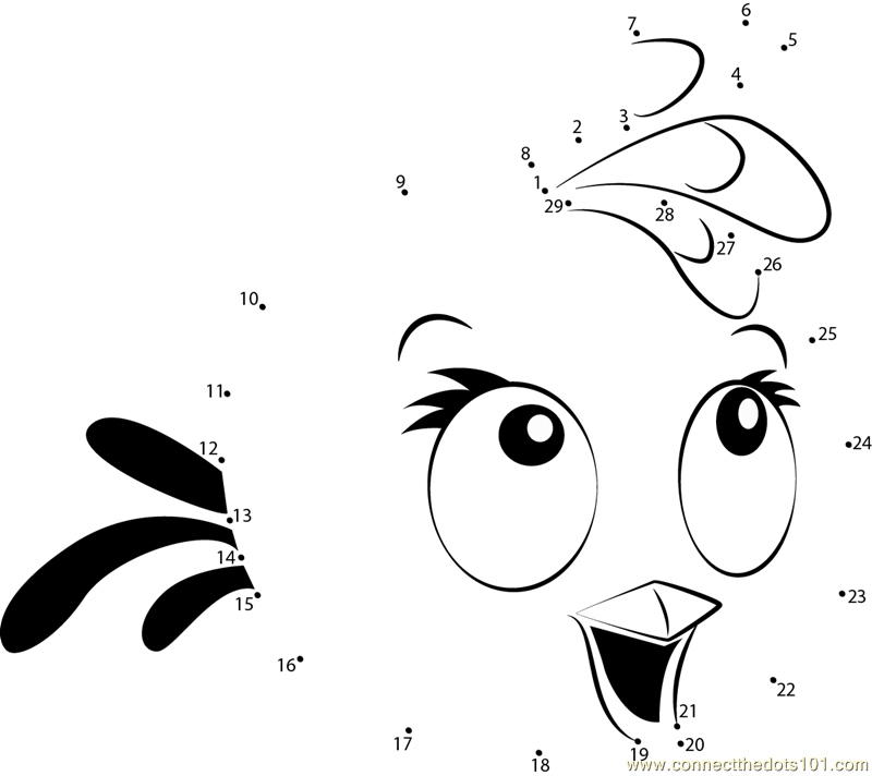 Angry Birds Pink Dot To Printable Worksheet