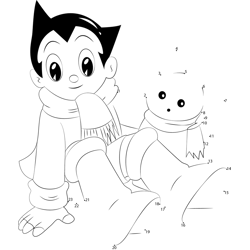 Astro Boy With Snow Cat