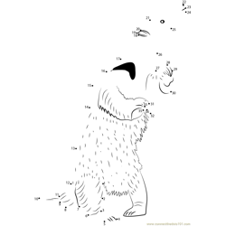 Anteater Standing Dot to Dot Worksheet