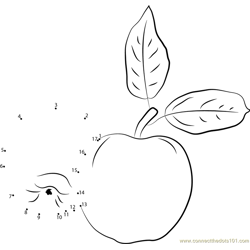 Fresh Apples Dot to Dot Worksheet