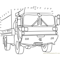 Military Truck Dot to Dot Worksheet