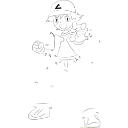 Ash showing a Pokeball