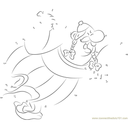 Asterix See Dot to Dot Worksheet