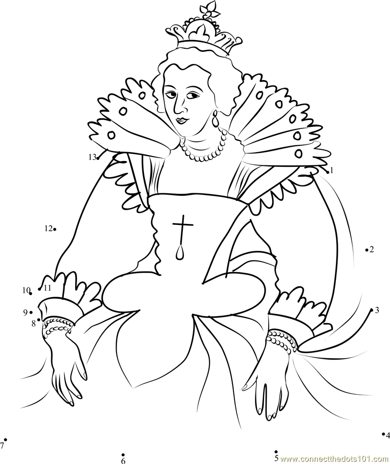 Anne of austria queen consort dot to dot printable worksheet anne of austria queen consort connect the dots for kids altavistaventures Image collections