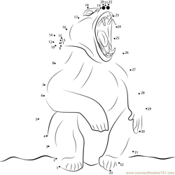 Angry Baboon Dot to Dot Worksheet