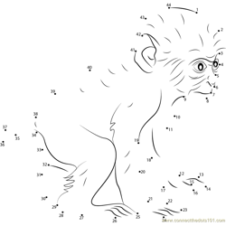 Baby Baboon Dot to Dot Worksheet