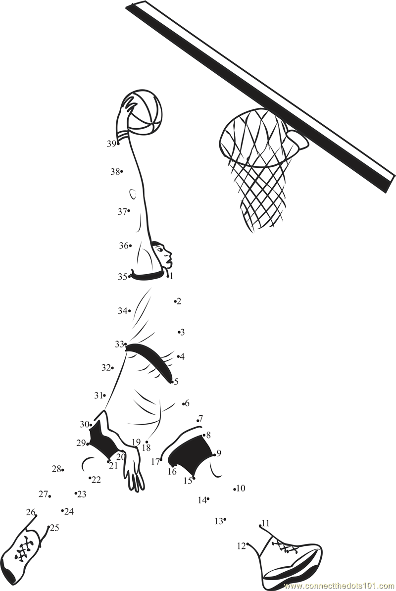 Uncategorized Basketball Worksheets basketball connect the dots printable worksheets basket shot