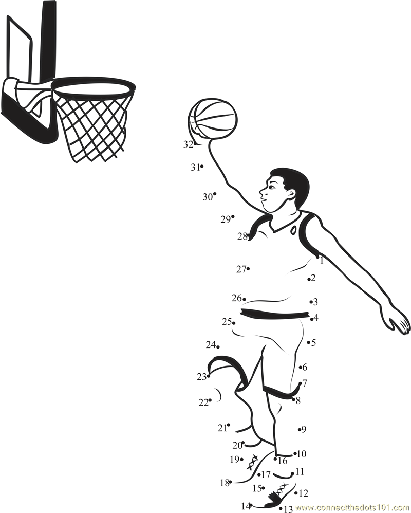 Uncategorized Basketball Worksheets basketball connect the dots printable worksheets bounce