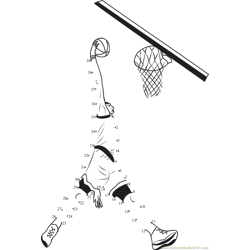 Basketball Basket Shot Dot to Dot Worksheet