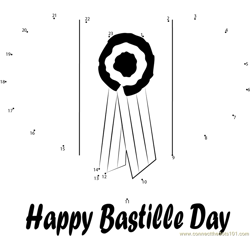 Bastille Day Heart Card