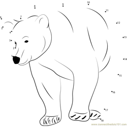 Black Bear Dot to Dot Worksheet