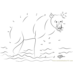 Brown Bear Dot to Dot Worksheet
