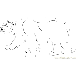 Polar Bear Dot to Dot Worksheet