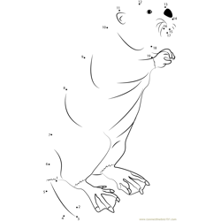 Stand Beaver Dot to Dot Worksheet