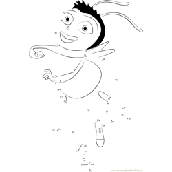 Dancing Bee Dot to Dot Worksheet