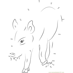 Cut Boar Dot to Dot Worksheet
