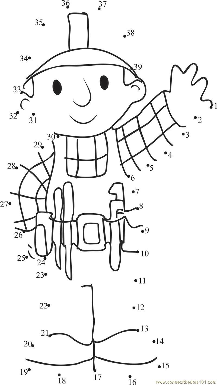 Great Bob The Builder dot to dot Printable Worksheet – Worksheet Builder