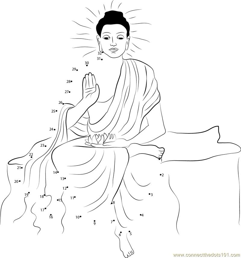 Gautama Siddhartha dot to dot printable