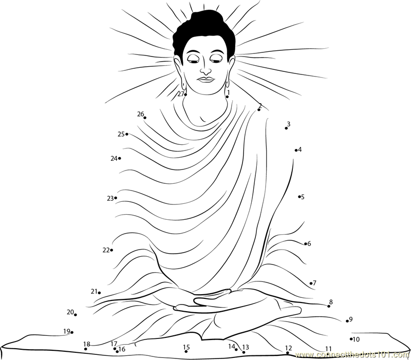 Female Buddha Drawing