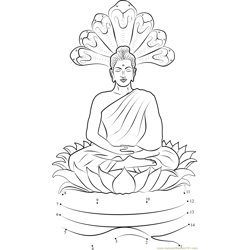 Gautam Buddha Sitting on Lotus