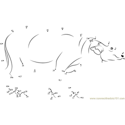 Asiatic Water Buffalo Dot to Dot Worksheet
