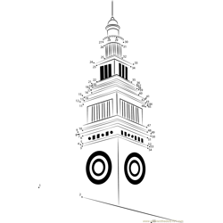 San Francisco Ferry Building Dot to Dot Worksheet