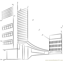 UCLA Health Science Building Dot to Dot Worksheet