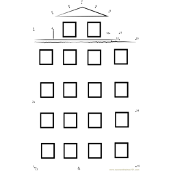 Venice italy  typical old building Dot to Dot Worksheet