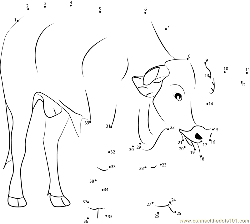 Bullfighter dot to dot printable