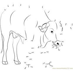 Bullfighter Dot to Dot Worksheet