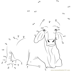 Nandi The Bull Dot to Dot Worksheet