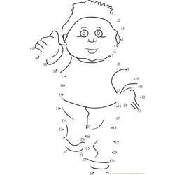 Cabbage Patch Teddy Dot to Dot Worksheet