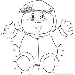 Cute Baby Cabbage Patch Dot to Dot Worksheet