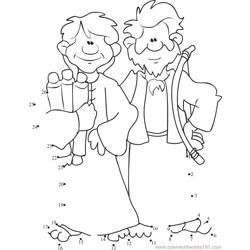 Cain and Abel Two Brothers Dot to Dot Worksheet