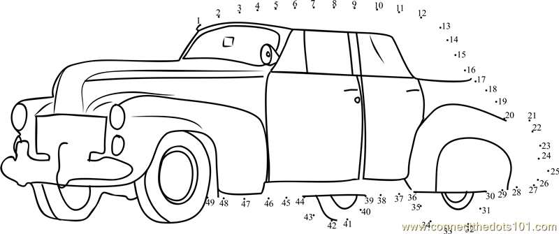 classic car dot to dot printable worksheet connect the dots