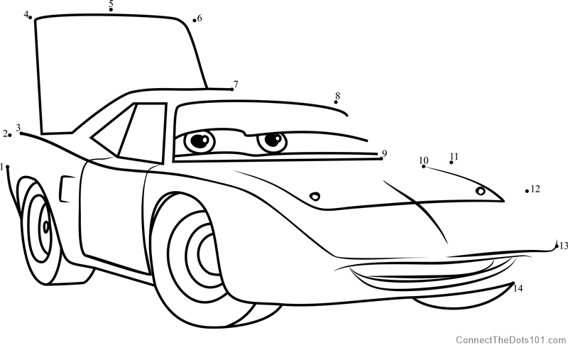 The King Aka Strip Weathers From Cars 3 Dot To Dot