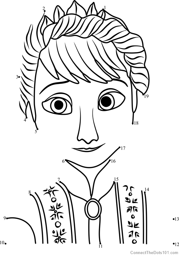 Queen of arendelle frozen dot to dot printable worksheet connect queen of arendelle frozen connect the dots for kids thecheapjerseys Images