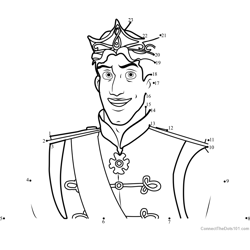 Prince Naveen Dot to Dot Worksheet
